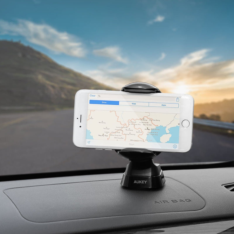 AUKEY HD-C28 Windshield Dashboard 360 Degree Rotating Car Mount - Aukey Malaysia Official Store