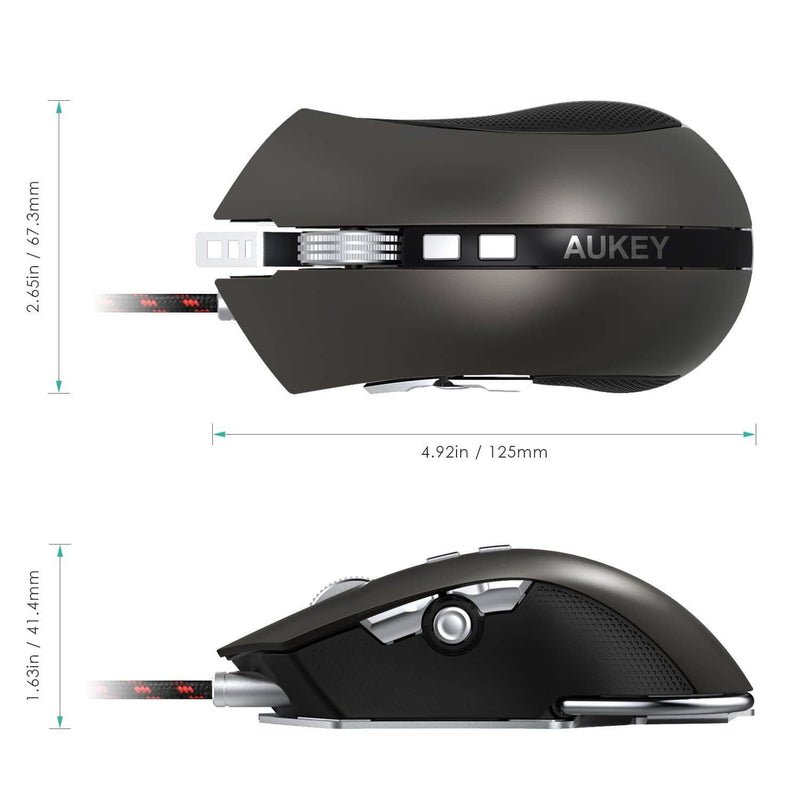 KM-C4 RGB Gaming Mouse With Switches 8 Programmable Buttons