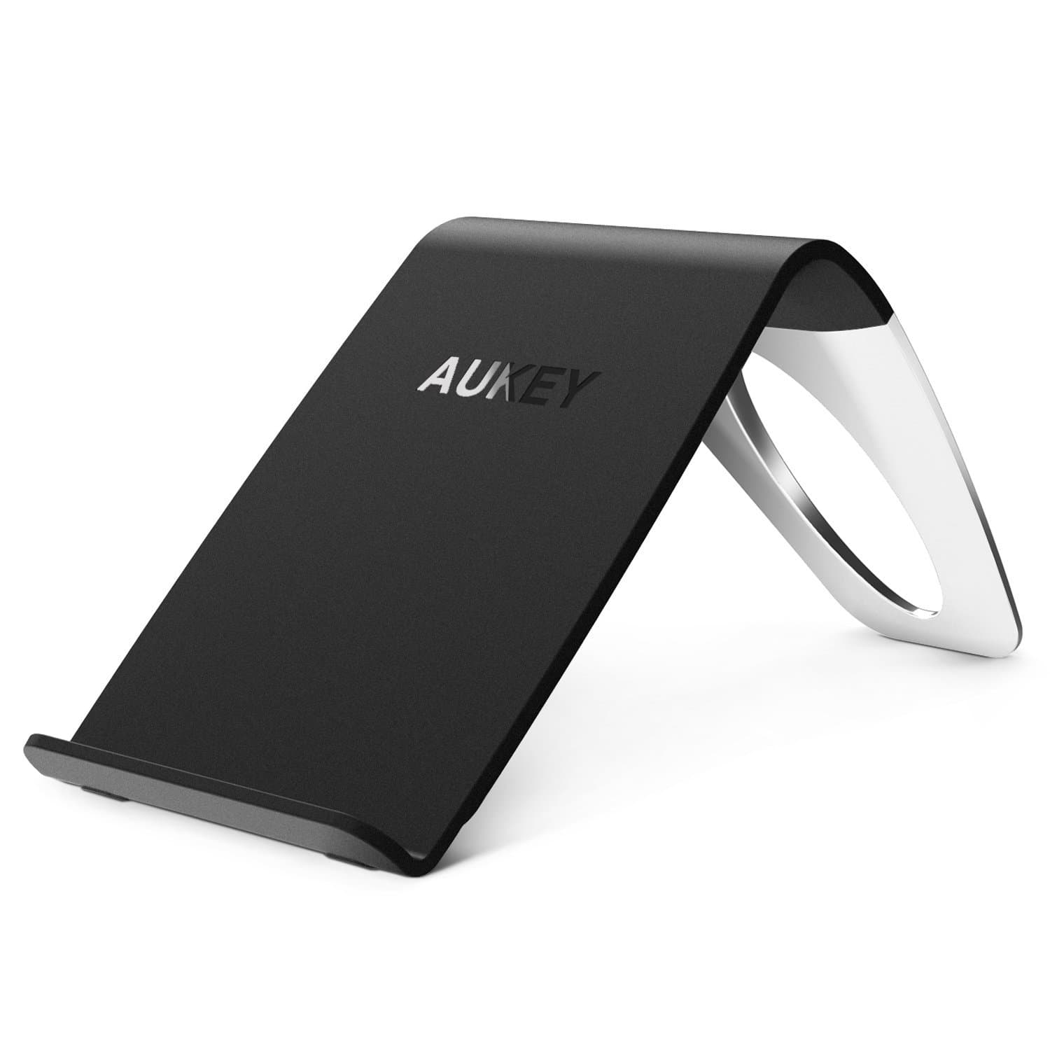 AUKEY LC-C1 Qi Wireless Charging Stand With Three Coils - Aukey Malaysia Official Store