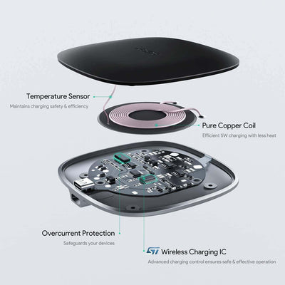LC-C5 5W Graphite Wireless Charger Pad