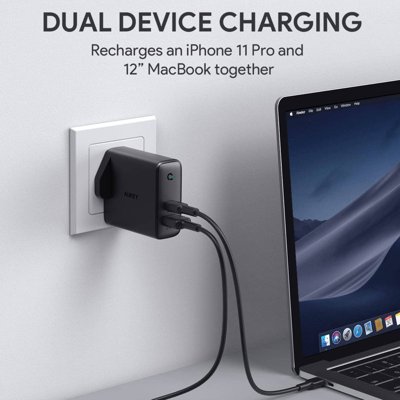 PA-D3 Focus Duo 60W Dual-Port PD USB C Charger with Dynamic Detect