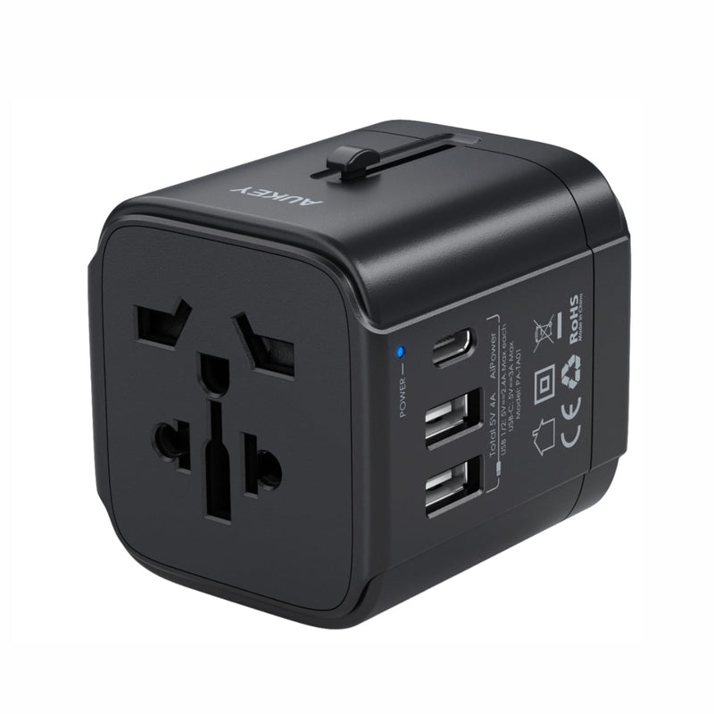PA-TA01 Universal Travel Adapter With USB-C and USB-A Ports
