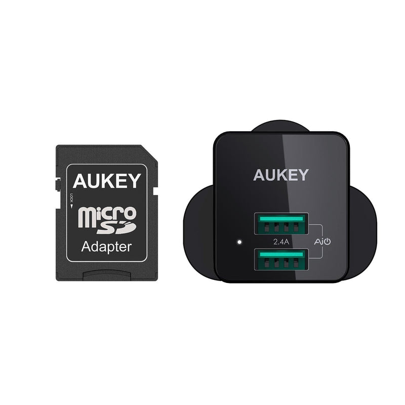 AUKEY PA-U32 12W Universal Dual Port AiPower Mini Portable Travel Charger - Aukey Malaysia Official Store