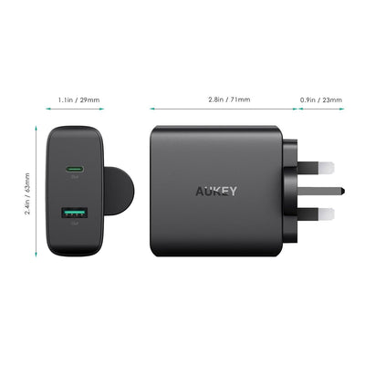 AUKEY PA-Y10 56.5W USB C Power Delivery 3.0 Ultra Portable Turbo Charger - Aukey Malaysia Official Store