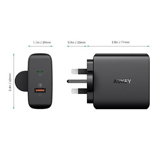 AUKEY PA-Y11 48W Power Delivery 3.0 USB C Turbo Charger With Quick Charge 3.0 - Aukey Malaysia Official Store