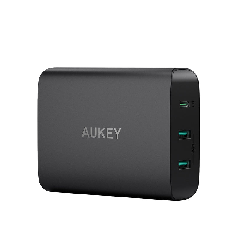 AUKEY PA-Y12 60W USB C Power Delivery 3.0 & Dual Port USB Desktop Charger - Aukey Malaysia Official Store