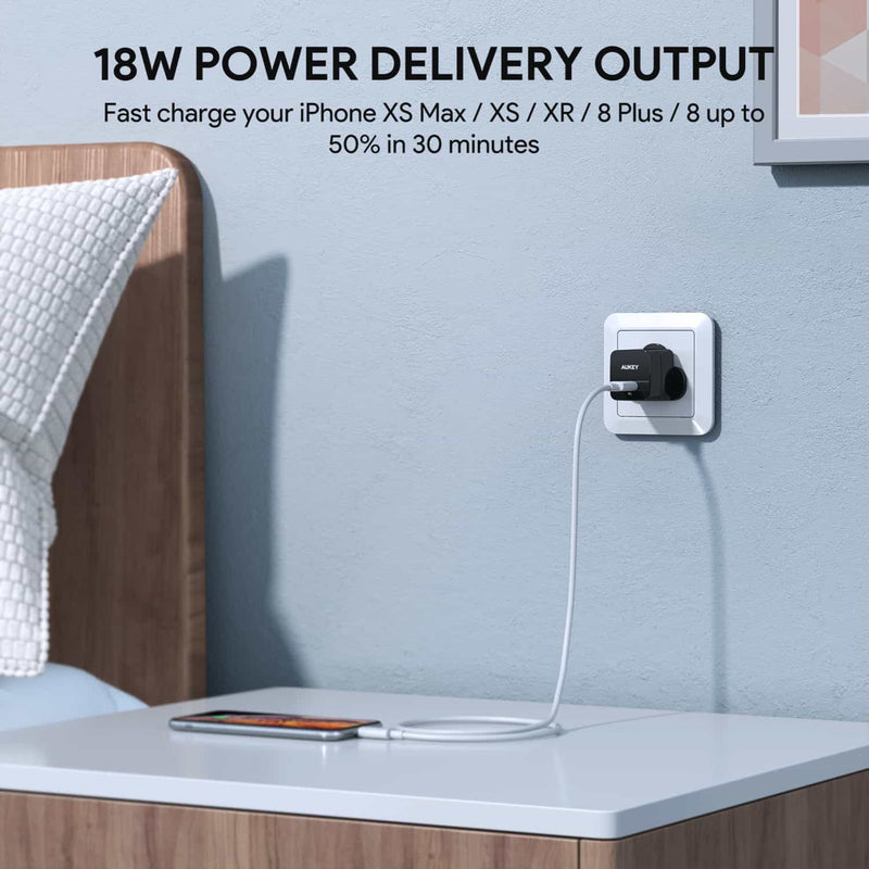 PA-Y18 Power Delivery USB-C Wall Charger With CB-CL1 USB C To Lightning Cable