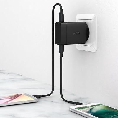 AUKEY PA-Y7 29W Amp Duo Power Delivery 3.0 USB C +2 Port Turbo Charger - Aukey Malaysia Official Store