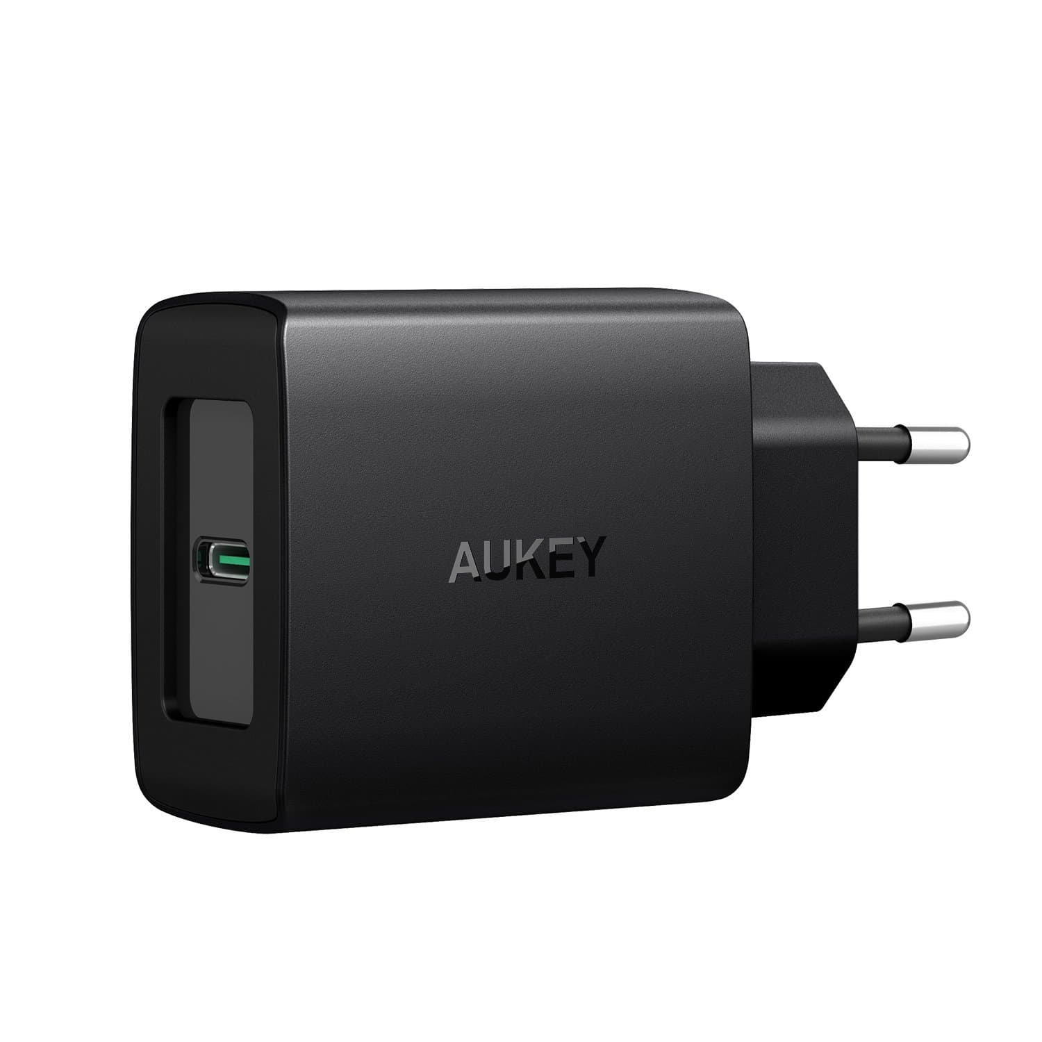 AUKEY PA-Y8 27W Qualcomm Quick Charge 4.0 with Power Delivery 3.0 Charger - EU Plug - Aukey Malaysia Official Store