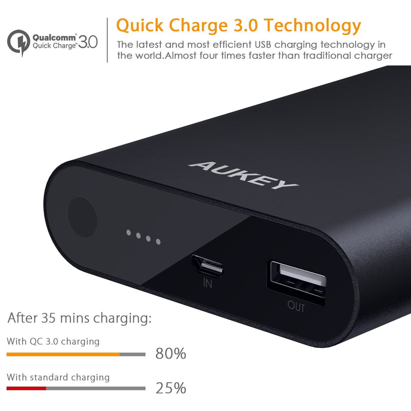 AUKEY PB-AT1 10400mAh Power Bank with Qualcomm Quick Charge 3.0 - Aukey Malaysia Official Store