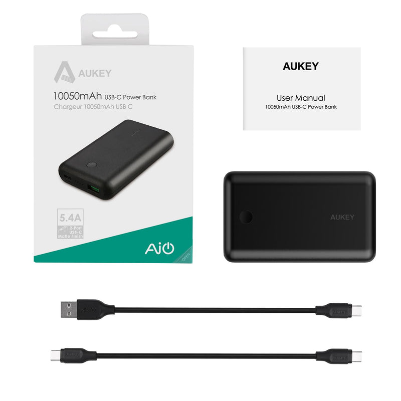AUKEY PB-BY10 10050mAh Power Force Series USB C Power Bank - Aukey Malaysia Official Store