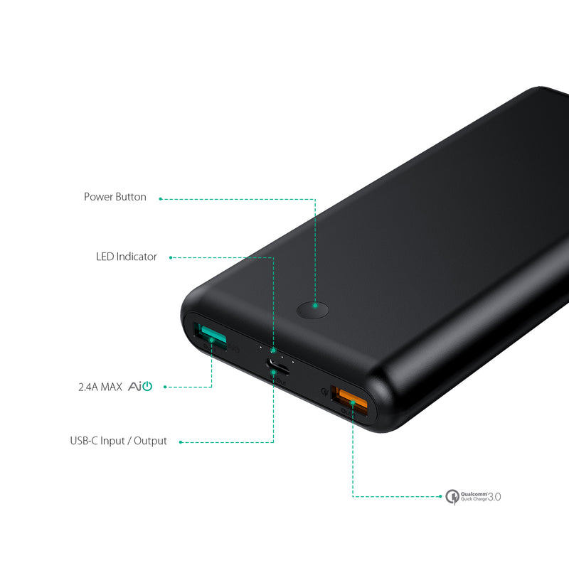 AUKEY PB-BY20S PD 3.0 Power Bank + PA-Y10 PD 3.0 Turbo Charger With MFI USB C To Lightning Cable - Aukey Malaysia Official Store