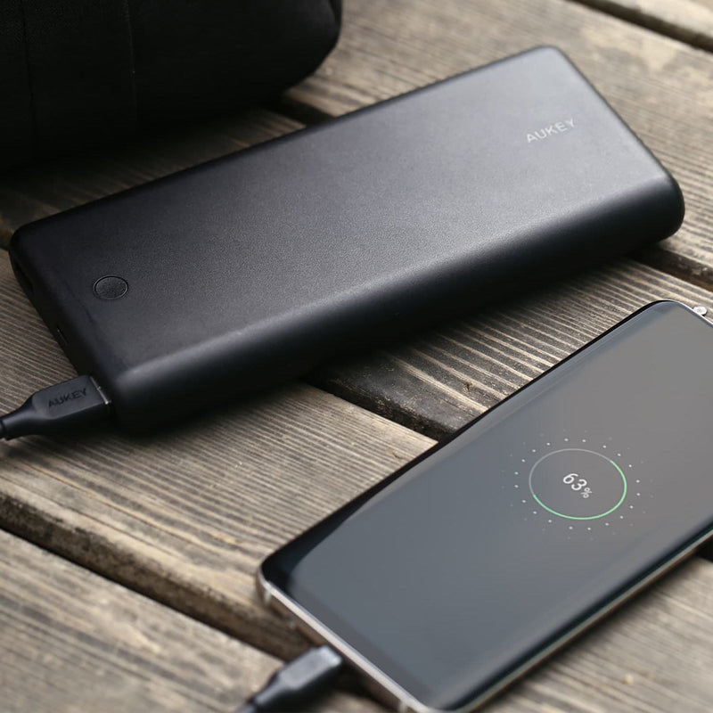 AUKEY PB-BY20S 55W 20100mAh PD 3.0 USB C Power Bank + Apple MFI USB C To Lightning Cable - Aukey Malaysia Official Store