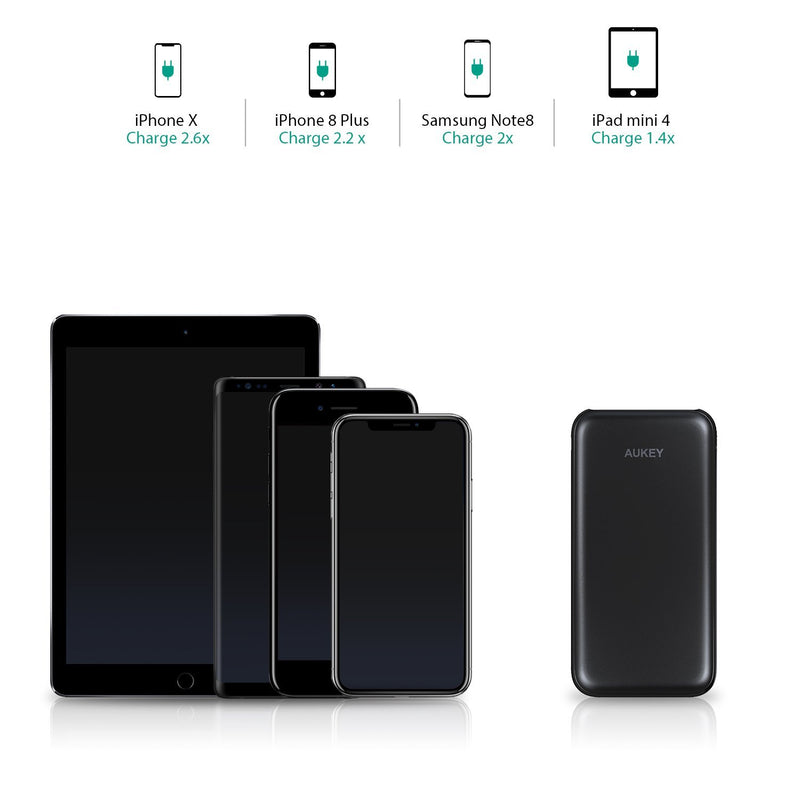 AUKEY PB-T18 10000mAh Qualcomm Quick Charge 3.0 Slimline Power Bank - Aukey Malaysia Official Store