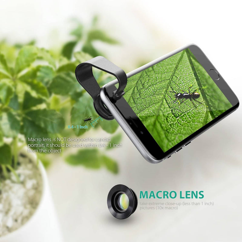 AUKEY PL-A1 Optic Pro 180° Fisheye + 110° Wide Angle + 10X Macro Mini Clip-on Lens - Aukey Malaysia Official Store