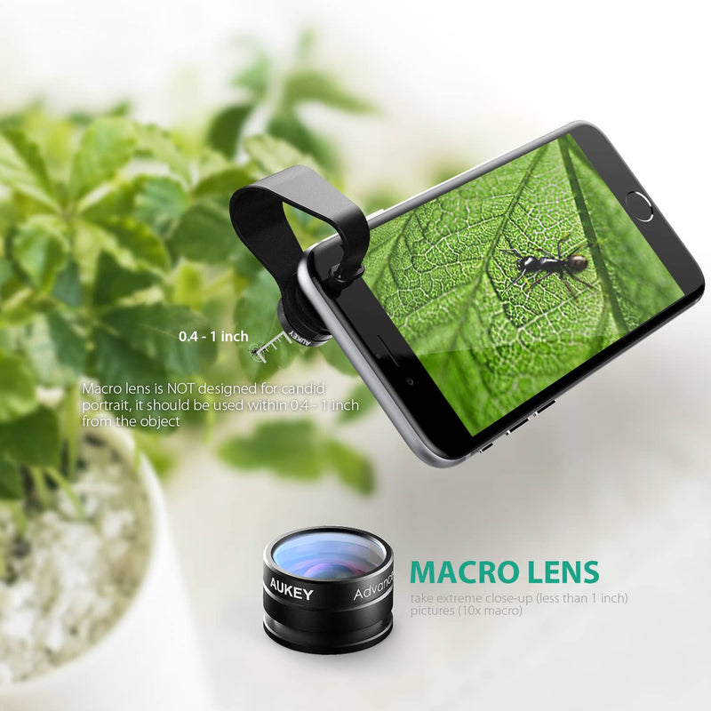 AUKEY PL-A2 - 2 in 1 Mini 10X Macro Lens + Mini 160 FOV Fish Eye Wide-angle Lens - Aukey Malaysia Official Store