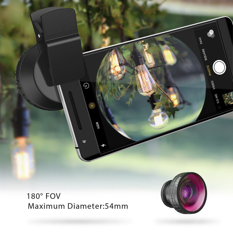 AUKEY PL-F2 Ora Lens Universal 180° Fisheye Clip-on Cell Phone Camera Lens - Aukey Malaysia Official Store