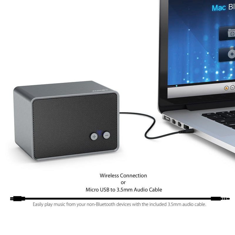 AUKEY SK-M28 Portable wireless Bluetooth mini Speaker with Stereo Sound - Aukey Malaysia Official Store