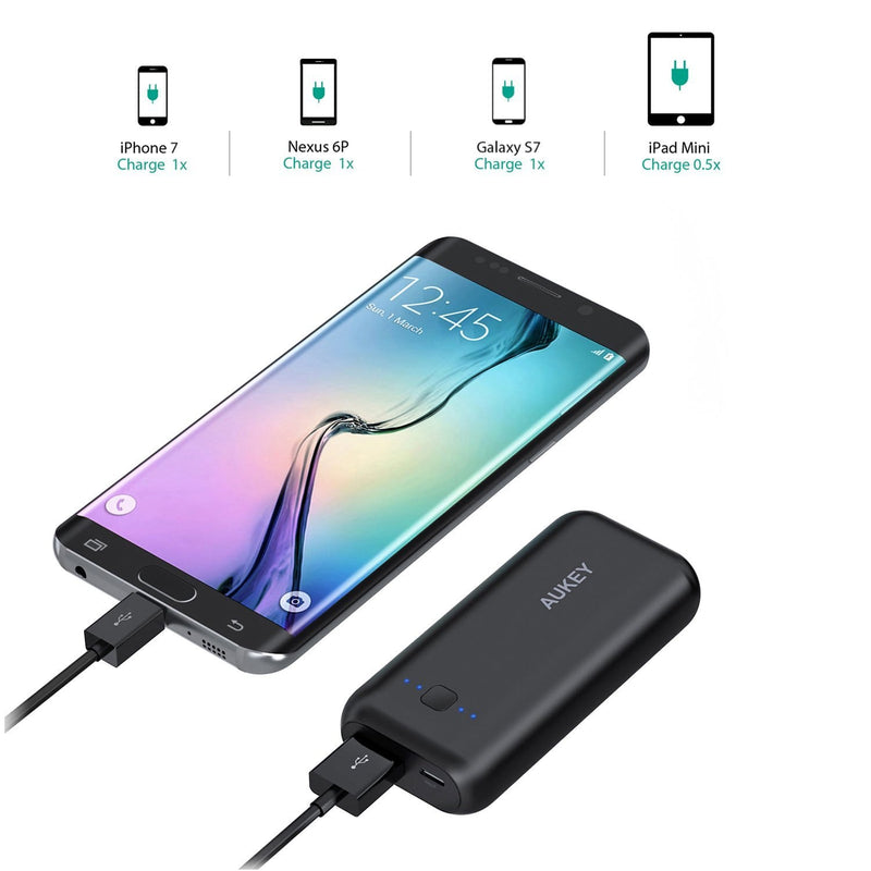 AUKEY PB-N41 5000mAh Mini Power Bank Portable Charger - Aukey Malaysia Official Store