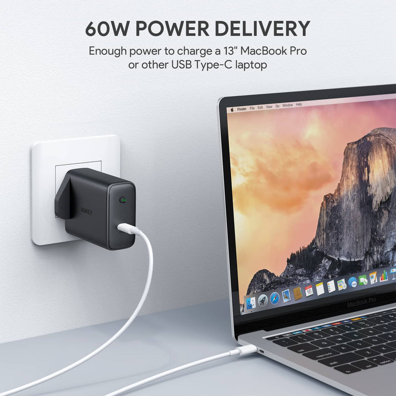 PA-D4 Focus 60W USB-C Power Delivery Charger with GaN Power Tech