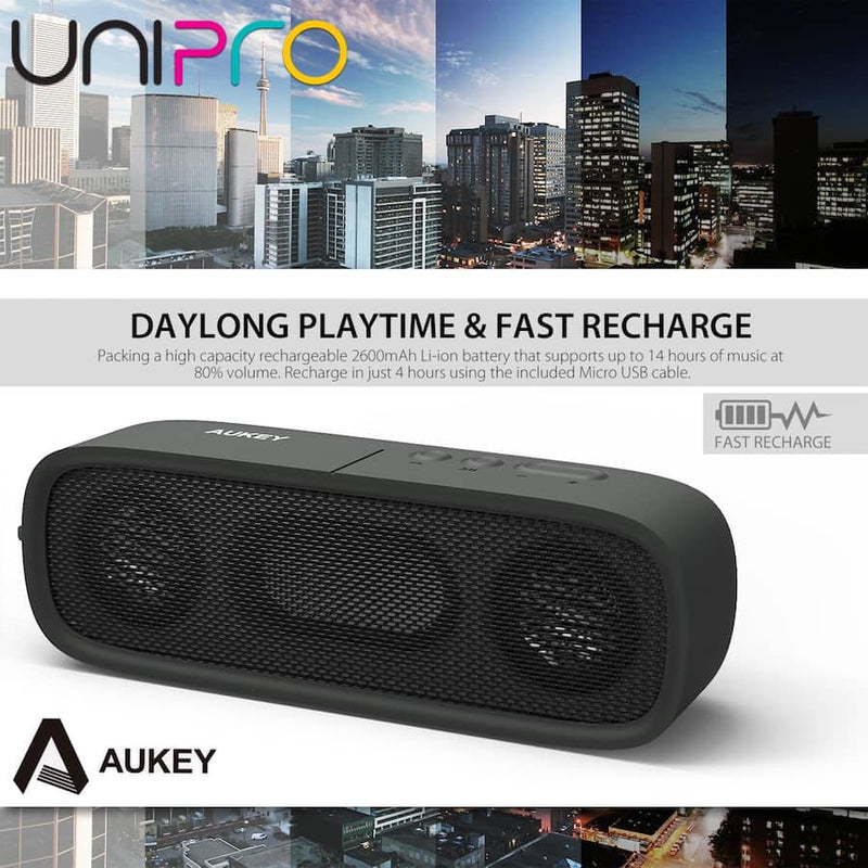 AUKEY SK-M7 Wireless Portable Bluetooth 4.1 outdoor Stereo Speaker - Black - Aukey Malaysia Official Store