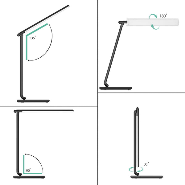 Aukey Lt T10 Touch 12w 7 Level Dimmable Led Desk Lamp