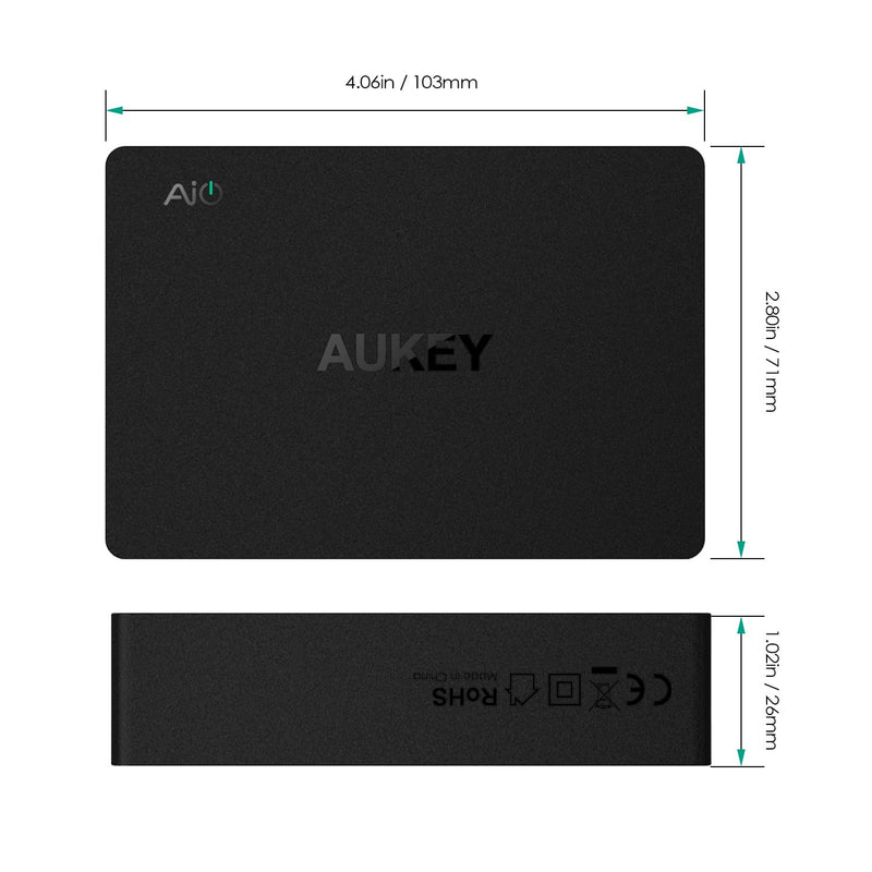 AUKEY PA-Y6 60W TYPE-C 6-Port Qualcomm Quick Charge 3.0 Charging Station - Aukey Malaysia Official Store