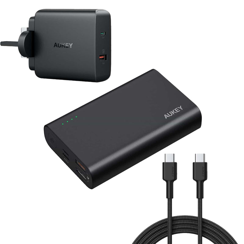 [Bundle] PB-XD12 Power Delivery QC3.0 Power Bank & PA-Y11 Charger & USB C To C Cable