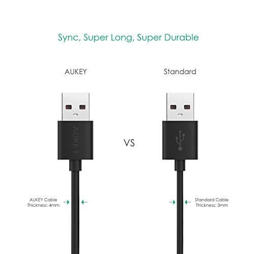 AUKEY CB-D11 20AWG 3.2 meter Micro USB 2.0 Quick Charge 3.0 Cable - Aukey Malaysia Official Store