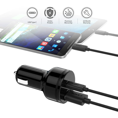 CC-Y7 USB C PD Car Charger + CB-CL01 USB C To Lightning Cable