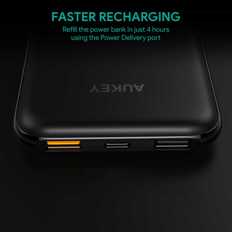 PB-Y13 10000mAh Power Delivery 2.0 USB C Power Bank With Quick Charge 3.0