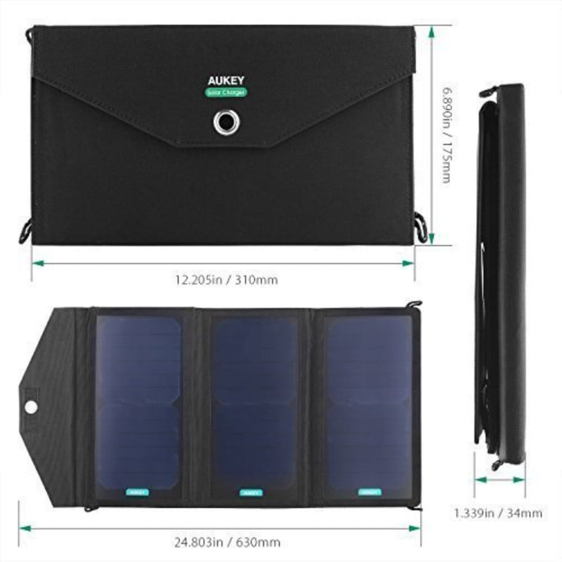 PB-P2 20W Solar Charger with Dual USB Port and AiPower