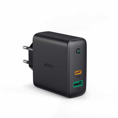 PA-D3 60W Dual-Port PD Charger with Dynamic Detect - EU Plug