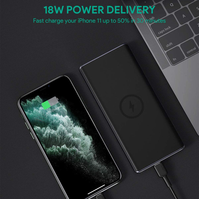 PB-Y32 18W PD QC 3.0 10000mAh Power Bank with Wireless Charging