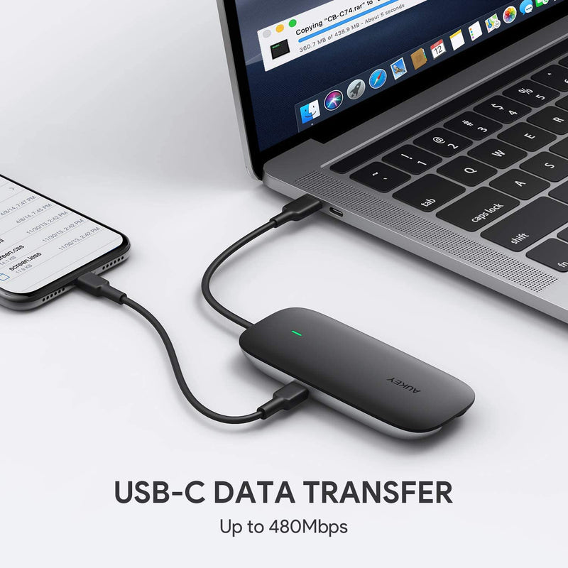 CB-C74 5 in 1 USB C Hub Ethernet Adapter with SD/TF Card Reader
