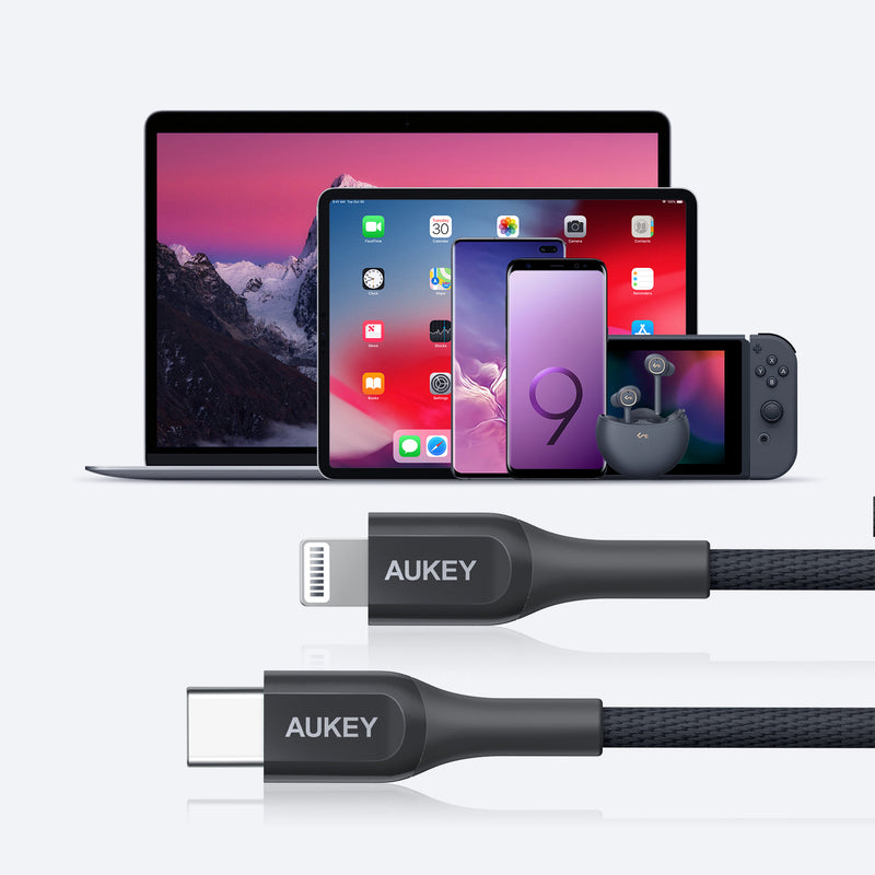 CB-AKL4 MFI 18W USB C To Lightning Kevlar Cable - 2 Meter