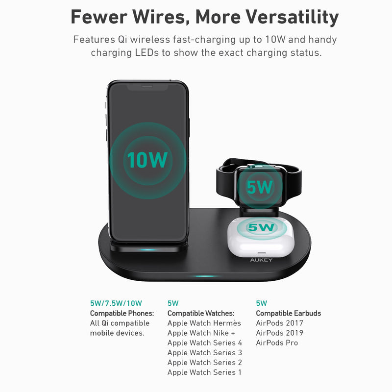 PA-D1 30W PD Charger with LC-A3 3 in 1 AirCore Wireless Charging Station