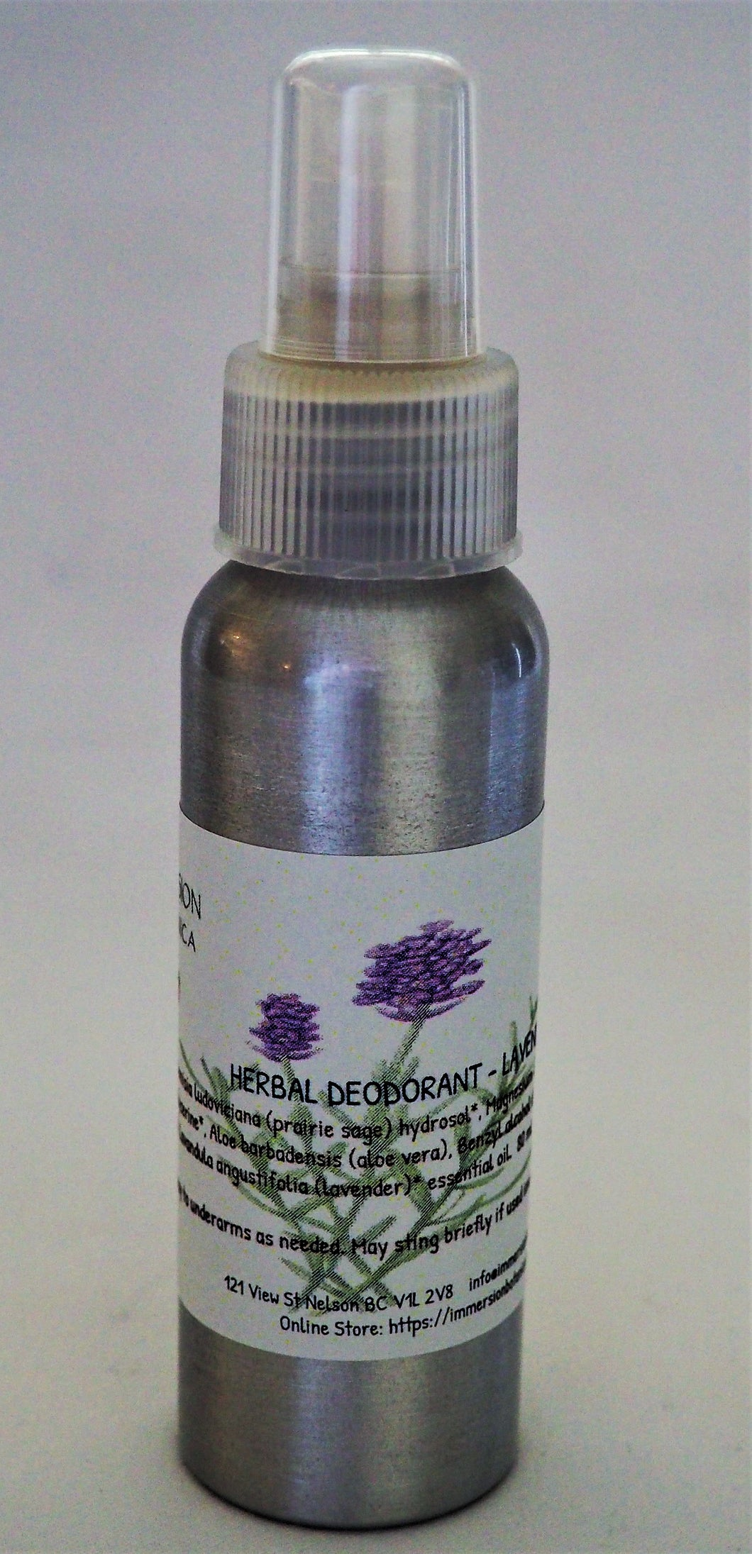Herbal Deodorant Spray - Lavender