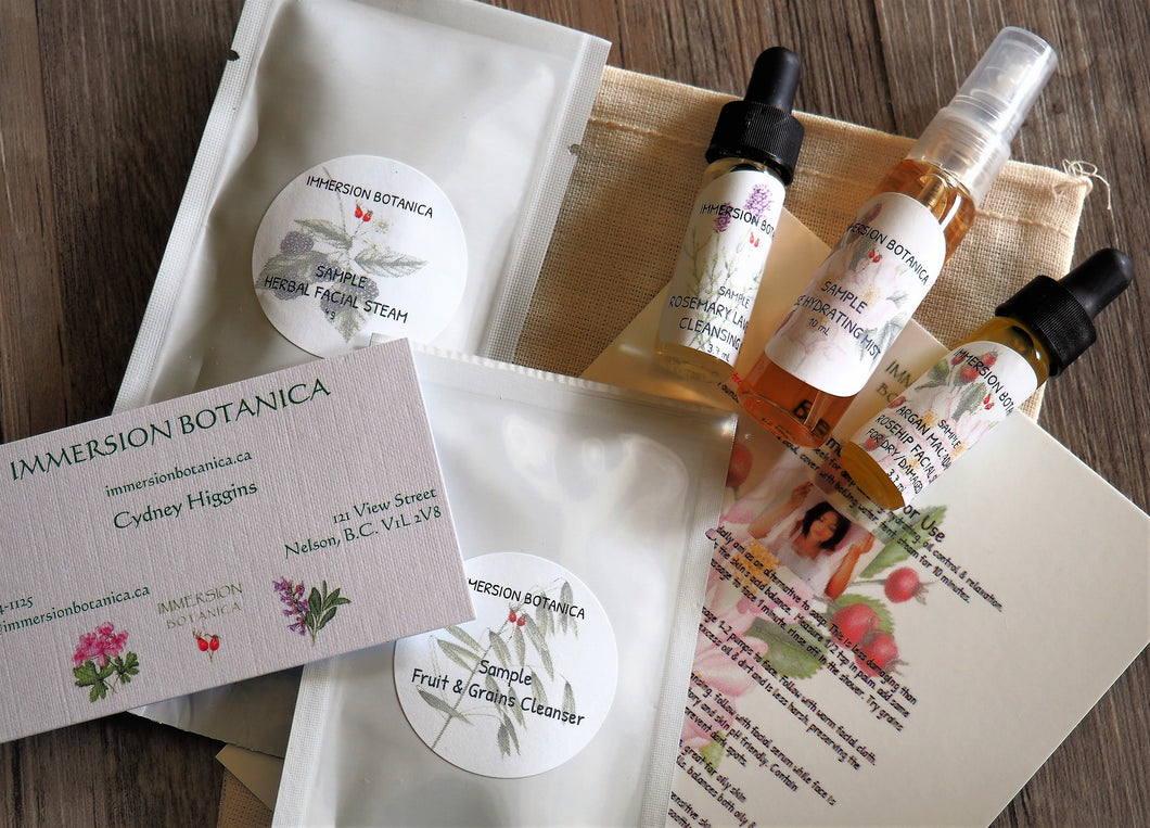 Essential Facial Sample Pack - Rosehip/Rose