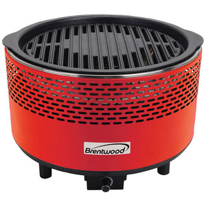 Brentwood Appliances Round Portable Smokeless Bbq