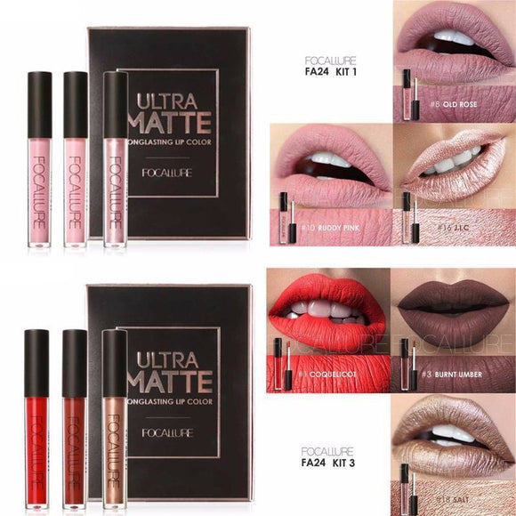 Focallure Ultra Matte Lip Kit ,