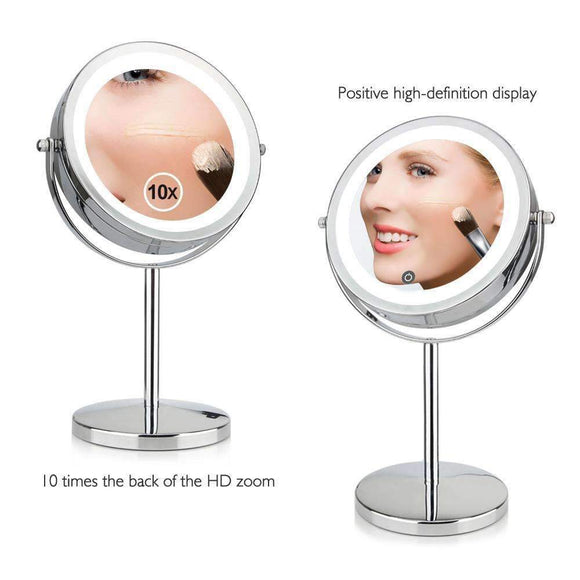 10x Magnification LED Cosmetic Mirror, 7 inches , Vanity Mirror