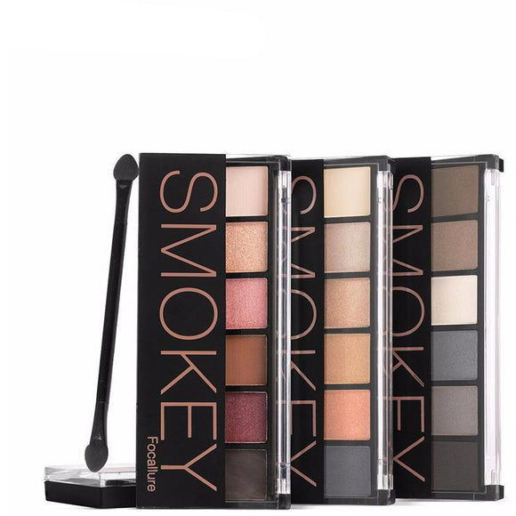 FOCALLURE 6 Colors Smokey Eyeshadow Palettes ,