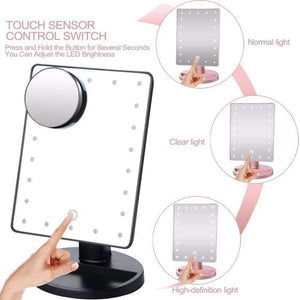 Rotating LED Makeup Mirror , LED Mirror