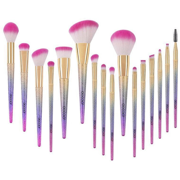 Docolor Rainbow Brushes , Makeup Brush Set