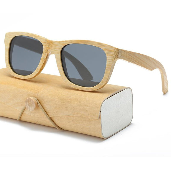 Unisex Bamboo Sunglasses , Sunglasses