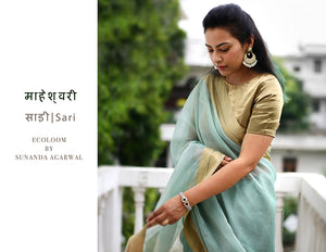 Silk cotton Handloom Saree by Ecoloom