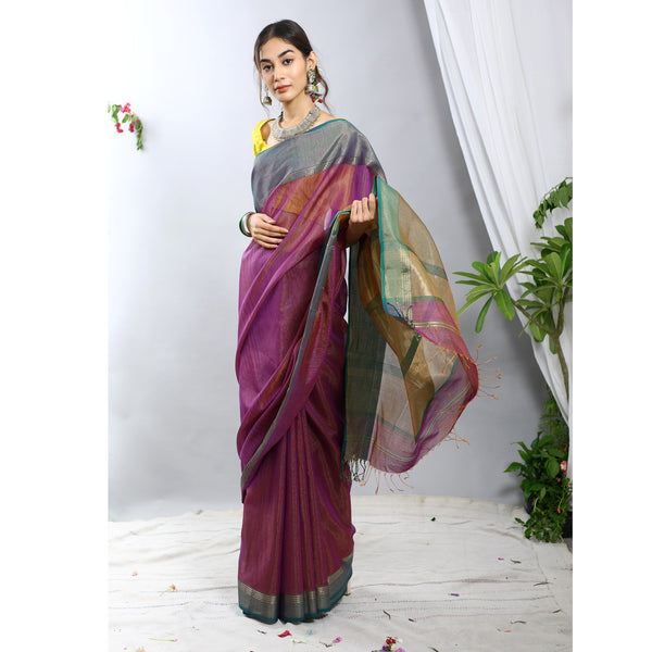Noor Silk Cotton Tissue Ecoloom Saree