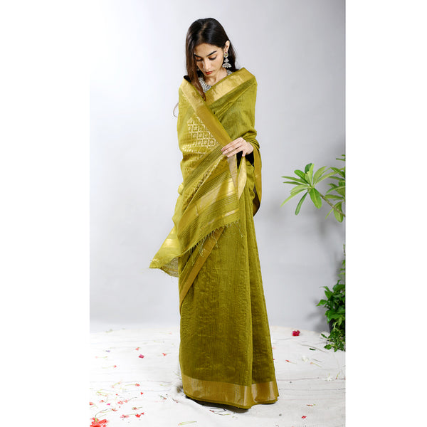 Auli Raw Silk Ecoloom Saree