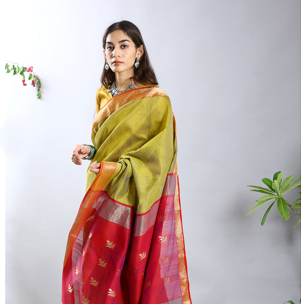 Raas Silk Cotton Saree Ecoloom Saree